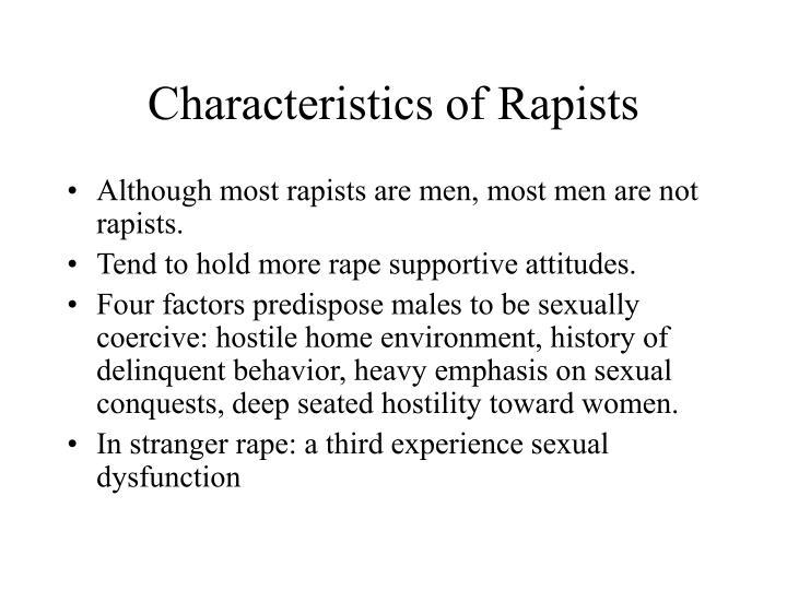 Characteristics of Rapists