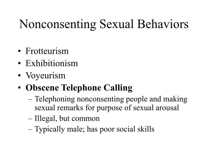 Nonconsenting Sexual Behaviors
