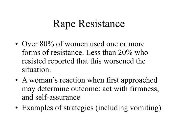 Rape Resistance