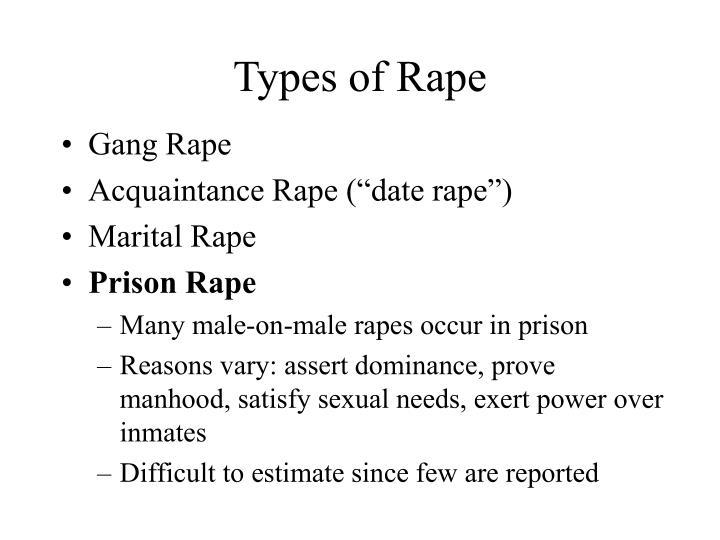 Types of Rape