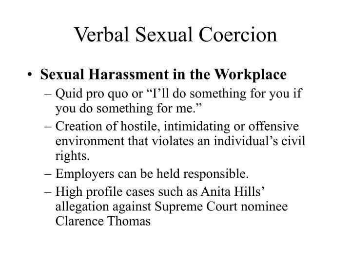 Verbal Sexual Coercion