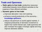 trade and openness