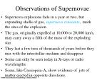 observations of supernovae2