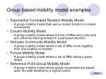 group based mobility model examples