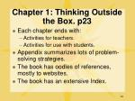 chapter 1 thinking outside the box p23