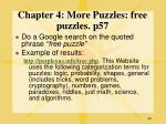 chapter 4 more puzzles free puzzles p57