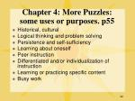 chapter 4 more puzzles some uses or purposes p55