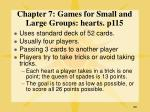 chapter 7 games for small and large groups hearts p115