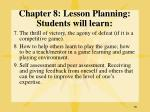 chapter 8 lesson planning students will learn79