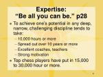 expertise be all you can be p28