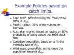 example policies based on catch limits