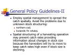 general policy guidelines ii