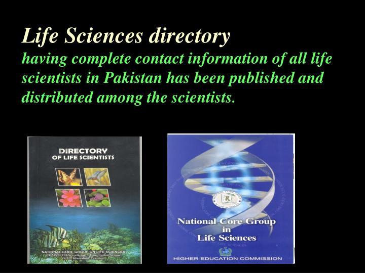 Life Sciences directory