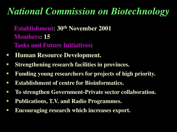 National Commission on Biotechnology