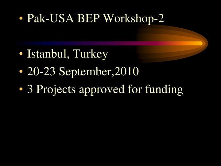 Pak-USA BEP Workshop-2