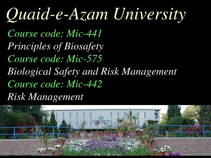 Quaid-e-Azam University