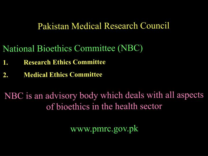 Pakistan Medical Research Council