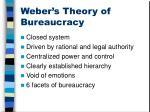 weber s theory of bureaucracy