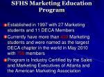 sfhs marketing education program