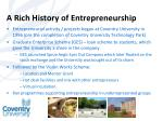 a rich history of entrepreneurship