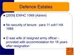 defence estates