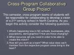cross program collaborative group project