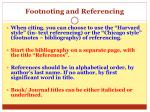 footnoting and referencing