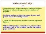 other useful tips1