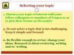 selecting your topic2
