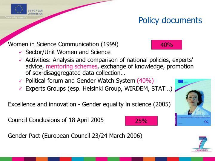 Women in Science Communication (1999)