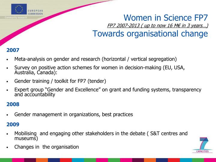 Women in Science FP7