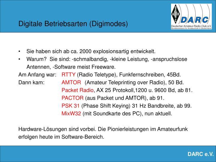 Digitale Betriebsarten (Digimodes)