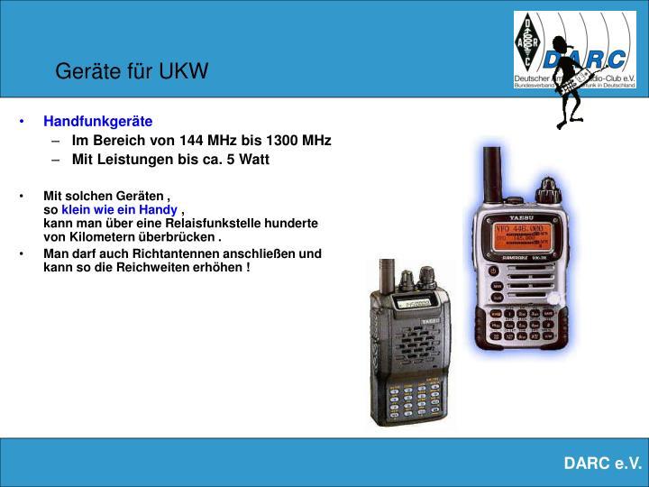 Geräte für UKW