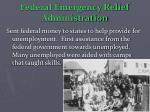 federal emergency relief administration
