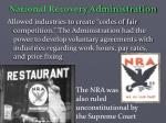 national recovery administration