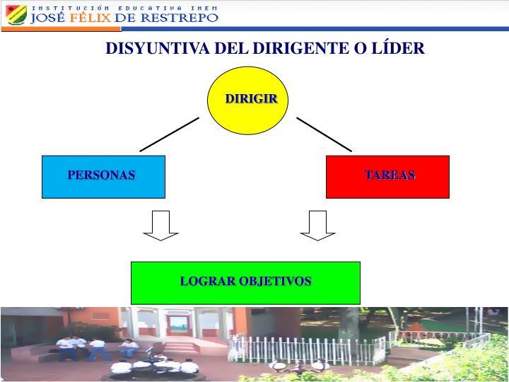 DISYUNTIVA DEL DIRIGENTE O LÍDER