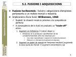 5 2 fusions i adquisicions