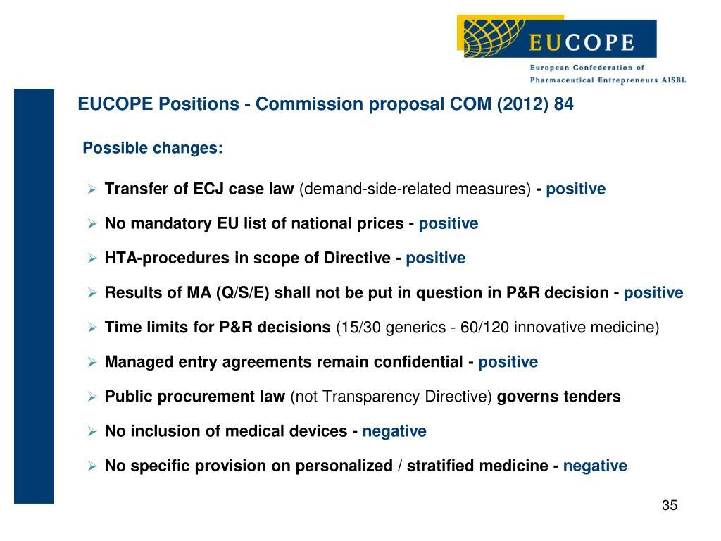 PPT - Polepharma Meetings Récents développements législatifs