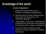 knowledge of the world