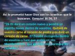 as lo prometi hacer dios con los israelitas que le buscaran ezequiel 36 26 271