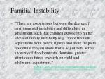 familial instability