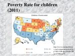poverty rate for children 2011