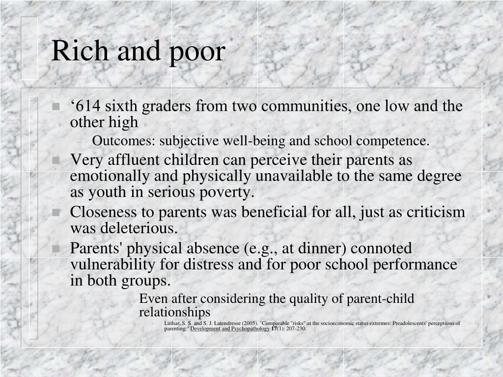 Rich and poor