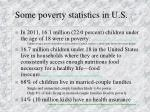 some poverty statistics in u s
