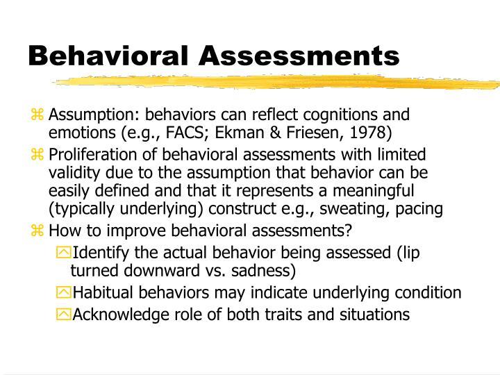 Behavioral Assessments