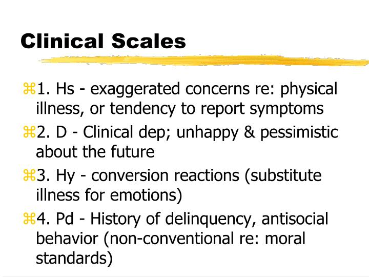 Clinical Scales