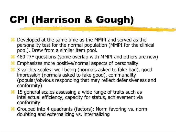 CPI (Harrison & Gough)