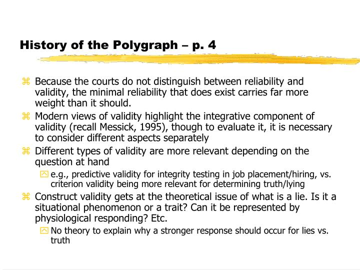 History of the Polygraph – p. 4