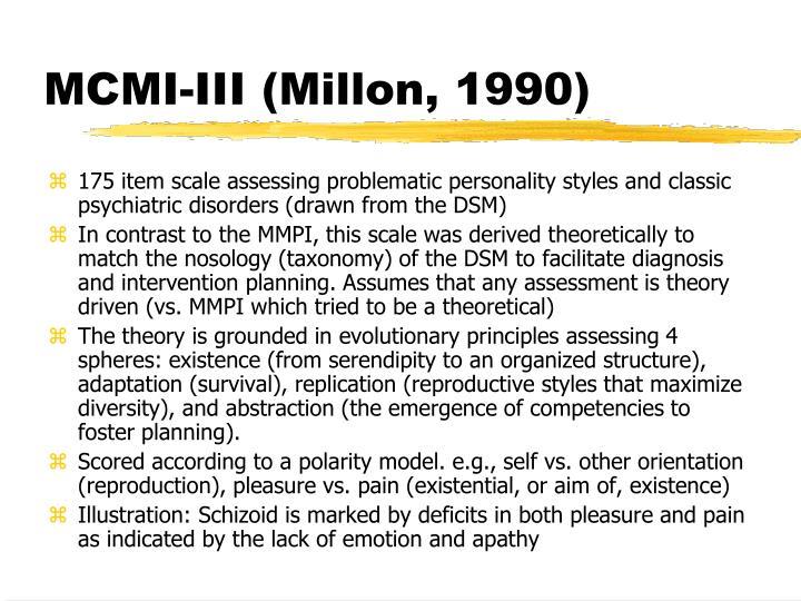 MCMI-III (Millon, 1990)