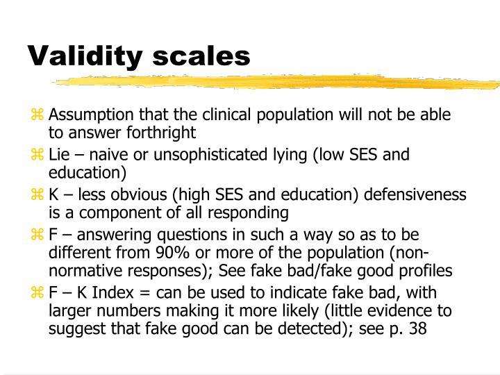 Validity scales